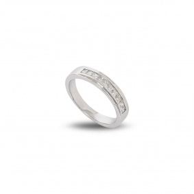 18WG Diamond Half Eternity Ring 0.75TDW